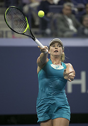 August 31, 2017 - Flushing Meadows, New York, U.S - Coco Vandeweghe during her match on Day Four of the 2017 US Open with Ons Jabeur at the USTA Billie Jean King National Tennis Center on Thursday August 31, 2017 in the Flushing neighborhood of the Queens borough of New York City. Vandeweghe defeats Jabeur, 7-6(8-6), 6-2. (Credit Image: © Prensa Internacional via ZUMA Wire)