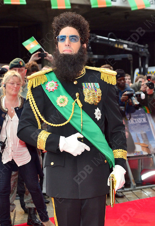 10.MAY.2012. LONDON<br /> <br /> THE DICTATOR PREMIERE AT THE ROYAL FESTIVAL HALL, LONDON. <br /> <br /> BYLINE: EDBIMAGEARCHIVE.COM<br /> <br /> *THIS IMAGE IS STRICTLY FOR UK NEWSPAPERS AND MAGAZINES ONLY*<br /> *FOR WORLD WIDE SALES AND WEB USE PLEASE CONTACT EDBIMAGEARCHIVE - 0208 954 5968*