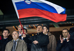 Radenko Mijatovic, vice president of NZS, Borut Pahor, president of Slovenia and Aleksander Ceferin, president of UEFA ahead to the football match between National teams of Slovenia and England in Round #3 of FIFA World Cup Russia 2018 Qualifier Group F, on October 11, 2016 in SRC Stozice, Ljubljana, Slovenia. Photo by Vid Ponikvar / Sportida