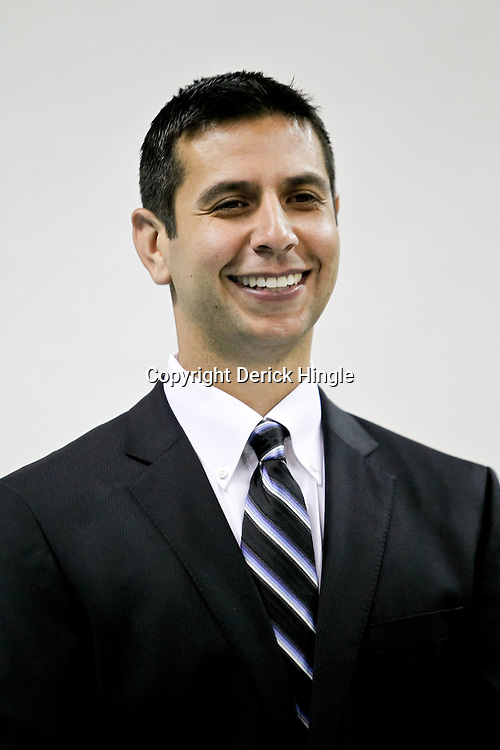 Sep 27, 2010; New Orleans, LA, USA; New Orleans Hornets assistant coach James Borrego poses during media day at the New Orleans Arena. Mandatory Credit: Derick E. Hingle