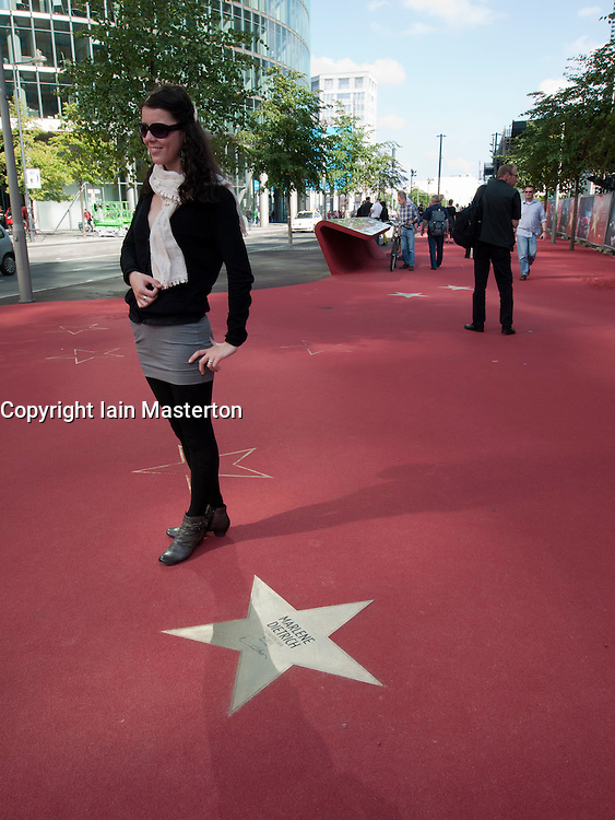 New Boulevard der Stars a special boulevard tribute to movie stars  at Potsdamer Platz in Berlin opened 10 September 2010