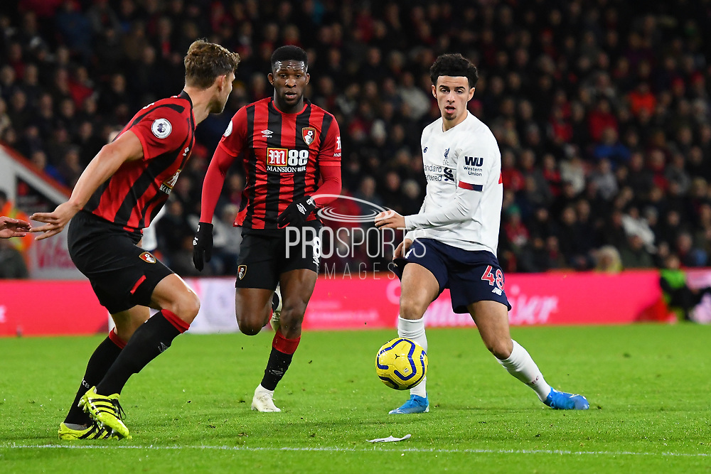 Curtis Jones (48) of Liverpool on the attack during the Premier League match between Bournemouth and Liverpool at the Vitality Stadium, Bournemouth, England on 7 December 2019.