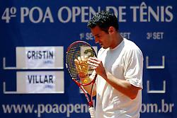 O argentino Diego Cristin venceu seu compatriota Juan-Pablo Villar por 2x1 parciais de 3/6, 6/4 e 6/4 na final do quarto Porto Alegre Open de Tênis. Foto: Marcos Nagelstein/Preview.com