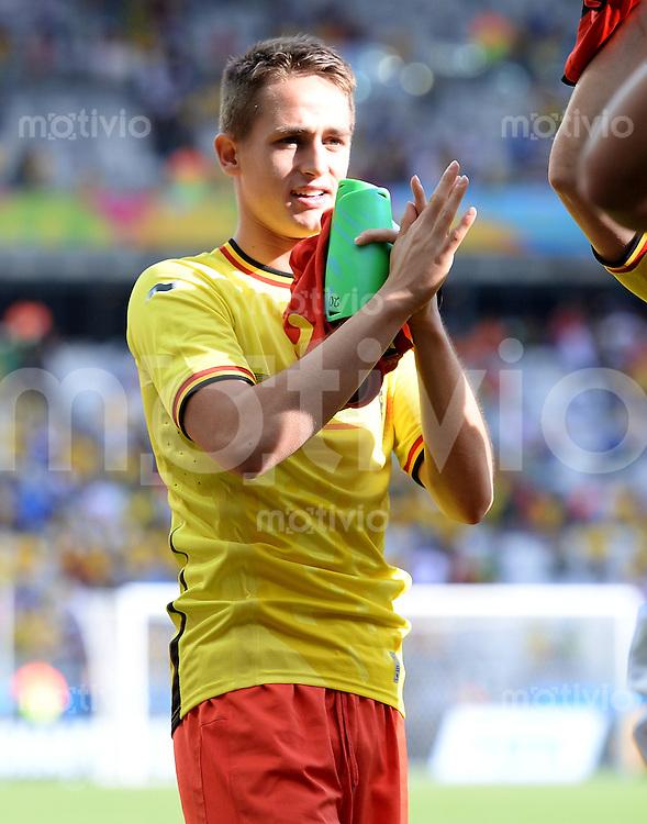 FUSSBALL WM 2014  VORRUNDE    Gruppe H     Belgien - Algerien                       17.06.2014 Adnan Januzaj (Belgien) jubelt nach dem Abpfiff