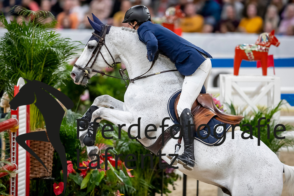 FUCHS Martin (SUI), Clooney 51<br /> Göteborg - Gothenburg Horse Show 2019 <br /> Longines FEI World Cup™ Final II<br /> Int. jumping competition with jump-off (1.50 - 1.60 m)<br /> Longines FEI Jumping World Cup™ Final and FEI Dressage World Cup™ Final<br /> 05. April 2019<br /> © www.sportfotos-lafrentz.de/Stefan Lafrentz