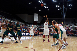Nov 15, 2011; Stanford CA, USA;  Stanford Cardinal forward/center Josh Owens (13) shoots a free throw against the Colorado State Rams during the first half of a preseason NIT game at Maples Pavilion. Stanford defeated Colorado State 64-52. Mandatory Credit: Jason O. Watson-US PRESSWIRE