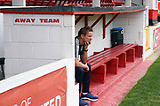 AFC Wimbledon manager Neal Ardley prior to kick off during the Pre-Season Friendly match between Ebbsfleet and AFC Wimbledon at Stonebridge Road, Ebsfleet, United Kingdom on 29 July 2017. Photo by Matthew Redman.