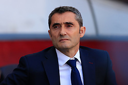 March 30, 2019 - Barcelona, BARCELONA, Spain - Ernesto Valverde of FC Barcelona during the ''Derby'' of La Liga match between FC Barcelona and RCD Espanyol in Camp Nou Stadium in Barcelona 30 of March of 2019, Spain. (Credit Image: © AFP7 via ZUMA Wire)