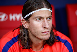 August 25, 2018 - Filipe Luis of Atletico de Madrid during the spanish league, La Liga, football match between Atletico de Madrid and Rayo Vallecano on August 25, 2018 at Wanda Metropolitano stadium in Madrid, Spain. (Credit Image: © AFP7 via ZUMA Wire)