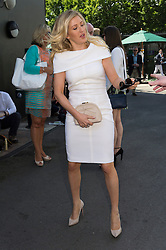 © Licensed to London News Pictures. 06/07/2016. ELLIE GOULDING arrives for the seventh day of the WIMBLEDON Lawn Tennis Championships. London, UK. Photo credit: Ray Tang/LNP