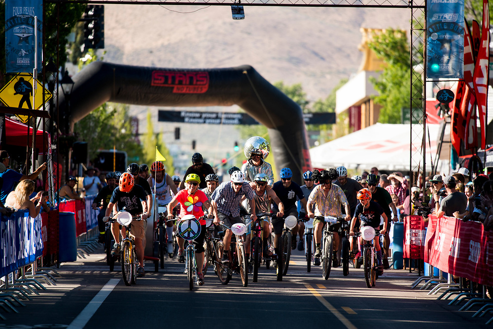 The Klunker Crit provided entertainment as the crowd gathered for the Criterium race Friday.