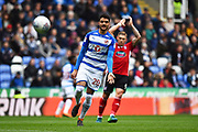 Tiago Ilori (20) of Reading during the EFL Sky Bet Championship match between Reading and Ipswich Town at the Madejski Stadium, Reading, England on 28 April 2018. Picture by Graham Hunt.