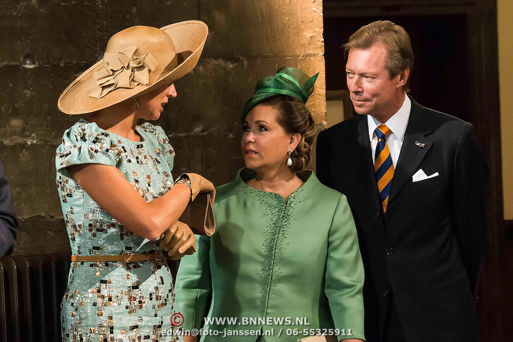 NLD/Maastricht/20140830 - Festivities on the occasion of the 200th jubilee of the Kingdom of the Netherlands in Maastricht - 200 Jaar Koninkrijk der Nederlanden, Queen Máxima, Groothertog Henri en Groothertogin Maria Teresa van Luxemburg