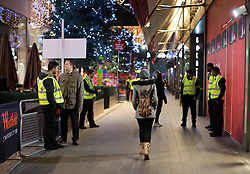 © Licensed to London News Pictures. 26/12/2014. Shoppers arrive at Westfield Stratford City, east London, before 7am for the Boxing Day sales today (26/12/2014.). Photo credit : LNP