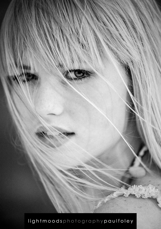 Young woman staring at the camera