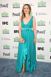 Julie Delpy at the 2014 Film Independent Spirit Awards Arrivals, Santa Monica Beach, Santa Monica, United States, Saturday, 1st March 2014. Picture by Hollywood Bubbles / i-Images<br /> UK ONLY