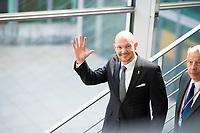 DEU, Deutschland, Germany, Berlin, 08.05.2019: Astronaut Alexander Gerst nach einer öffentlichen Anhörung im Wirtschaftsausschuss im Deutschen Bundestag.