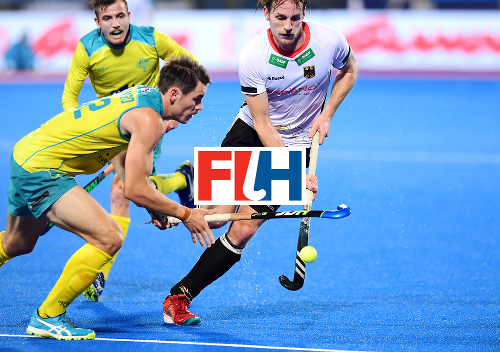 Odisha Men's Hockey World League Final Bhubaneswar 2017<br /> Match id:20<br /> Australia v Germany<br /> Foto: Jeremy Hayward (Aus) and Niklas Bruns (Ger) <br /> COPYRIGHT WORLDSPORTPICS FRANK UIJLENBROEK