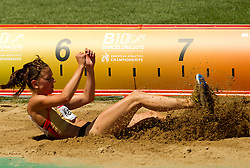 Nadja Kather of Germany competes in the Womens Long Jump Qualifying during day one of the 20th European Athletics Championships at the Olympic Stadium on July 27, 2010 in Barcelona, Spain. (Photo by Vid Ponikvar / Sportida)
