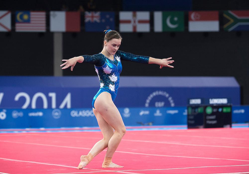 Glasgow, JULY 30, 2014: Wrestling - medal matches; women's gymnastics