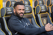Darren Bent during the Sky Bet Championship match between Wolverhampton Wanderers and Derby County at Molineux, Wolverhampton, England on 27 February 2016. Photo by Alan Franklin.