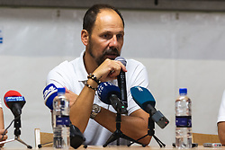 Ante Šimundža, head coach of Mura during press conference after Football match between NS Mura (SLO) and Maccabi Haifa (IZR) in First qualifying round of UEFA Europa League 2019/20, on July 18, 2019, in Stadium Fazanerija, Murska Sobota, Slovenia. Photo by Blaž Weindorfer / Sportida