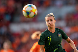01-06-2019 NED: Netherlands - Australia, Eindhoven<br /> <br /> Friendly match in Philips stadion Eindhoven. Netherlands win 3-0 / Steph Catley #7 of Australia