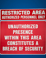 Restricted Area in Wrangell. Image taken with a Nikon D300 camera and 70-300 mm VR lens.