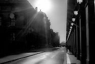 France. Paris. 4th district. rue de rivoli at sunset