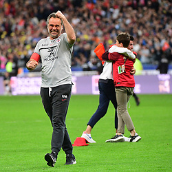 Toulouse coach Ugo Mola celebrates winning the Top 14 Final between Toulouse and Clermont at Stade de France on June 15, 2019 in Paris, France. (Photo by Dave Winter/Icon Sport)
