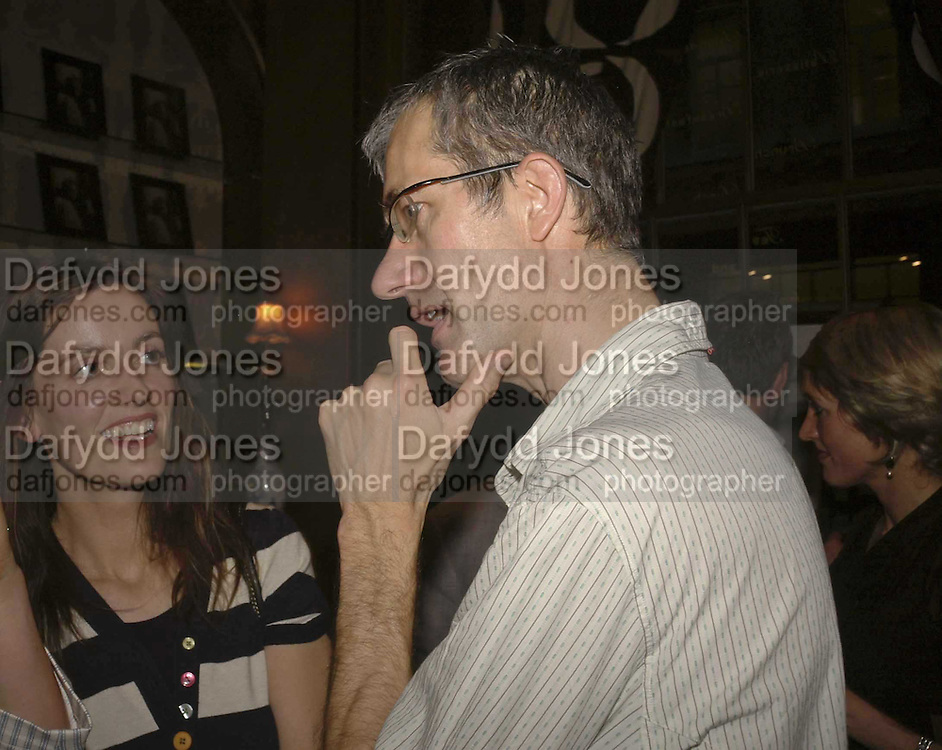Rebecca Wilson and Geoff Dyer, Launch of Paula Rae Gibson's 'Diary of A Love Addict' Sketch. 10 May 2006. ONE TIME USE ONLY - DO NOT ARCHIVE  © Copyright Photograph by Dafydd Jones 66 Stockwell Park Rd. London SW9 0DA Tel 020 7733 0108 www.dafjones.com