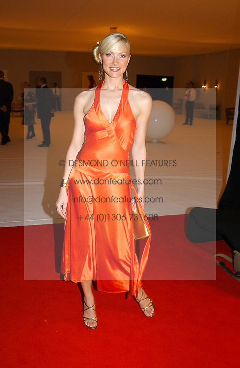 Model CAPRICE BOURRET at the Moet &amp; Chandon Fashion Tribute 2005 to Matthew Williamson, held at Old Billingsgate, City of London on 16th February 2005.<br />
