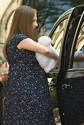 July 25, 2019, New York, NY, USA: July 25, 2019 New York City..Hillary Clinton, Chelsea Clinton, with new born baby, Jasper Mezvinsky, and Marc Mezvinsky leaving Lenox Hill Hospital on July 25, 2019 in New York City. (Credit Image: © Kristin Callahan/Ace Pictures via ZUMA Press)