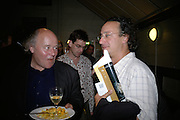 RICHARD NORTON -TAYLOR AND MARK SANDS, Opening night of 'Called To Account' The Tricycle  Theatre. London. 23 April 2007.  -DO NOT ARCHIVE-© Copyright Photograph by Dafydd Jones. 248 Clapham Rd. London SW9 0PZ. Tel 0207 820 0771. www.dafjones.com.