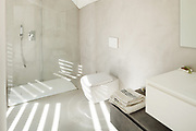 Architecture, interior of a modern house, white bathroom