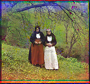 What Russian Empire Looked Like Before 1917… In Colour<br /> <br /> <br /> The Sergei Mikhailovich Prokudin-Gorskii Collection features colour photographic surveys of the vast Russian Empire made between ca. 1905 and 1915. Frequent subjects among the 2,607 distinct images include people, religious architecture, historic sites, industry and agriculture, public works construction, scenes along water and railway transportation routes, and views of villages and cities. An active photographer and scientist, Prokudin-Gorskii (1863-1944) undertook most of his ambitious colour documentary project from 1909 to 1915. <br /> <br /> Photo Shows; Catholic Armenian women in customary dress. (between 1905 and 1915)<br /> ©Library of Congress/Prokudin-Gorskii/Exclusivepix Media