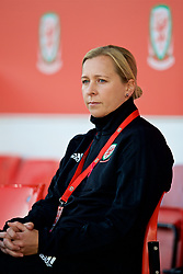 NEWPORT, WALES - Friday, August 31, 2018: Wales' manager Jayne Ludlow before the FIFA Women's World Cup 2019 Qualifying Round Group 1 match between Wales and England at Rodney Parade. (Pic by David Rawcliffe/Propaganda)