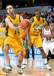 G Vermont Catamounts Kyle Cieplicki (14)..The Virginia Cavaliers men's basketball team defeated the Vermont Catamounts 90-72 at the John Paul Jones Arena in Charlottesville, VA on November 11, 2007.