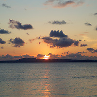 Even on cloudy days, sunsets on Okinawa make you stop and admire...
