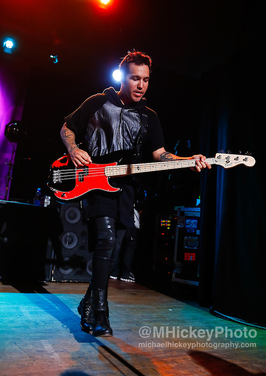 MADISON, WI - MAY 13: Pete Wentz of Fall Out Boy performs during Yahoo! On The Road at Majestic Theatre on May 13, 2013 in Madison, Wisconsin. (Photo by Michael Hickey/WireImage) *** Local Caption *** Pete Wentz