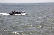 Dutch naval craft off Texel, Netherlands, heading to Den Helder