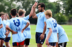 Steven Luatua at the Bristol Bears Community Foundation Summer Holiday Camp at Old Bristolians RFC - Mandatory by-line: Dougie Allward/JMP - 15/08/2018 - Rugby