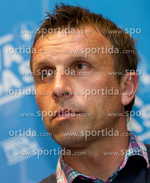 Miran Srebrnic, coach of HIT Gorica during press conference of 1st SNL PrvaLiga, on February 29, 2012 in Koper, Slovenia.  (Photo By Vid Ponikvar / Sportida.com)