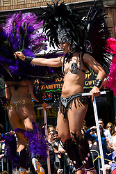 California: San Francisco Carnaval festival parade in the Mission District. Photo copyright Lee Foster. Photo # 30-casanf81168