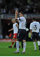 Photo: Tony Oudot/Richard Lane Photography.  England v Czech Republic. International match. 20/08/2008. <br /> John Terry of England applauds the fans at the end of the match