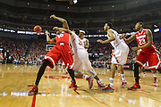 January 20, 2014: Shavon Shields (31) of the Nebraska Cornhuskers blocks LaQuinton Ross (10) of the Ohio State Buckeyes at the Pinnacle Bank Arena, Lincoln, NE. Nebraska won in the game against Ohio State 68 to 62.