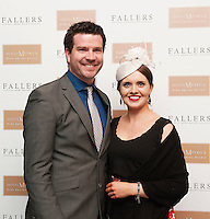 30/07/2015 report free :  Paul Kiloran and  Jacqueline Nestor at the 4 star Hotel Meyrick's Most Stylish Lady competition, and John Faller Faller's  for Ladies Day Galway Race week 2015, Judges were by leading Irish Model Rozanna Purcell,  Mandy Maher Catwalk Models and Mary Lee , Model The winners received an amazing €2,000 prize package from Fallers of Galway . Photo:Andrew Downes, xposure