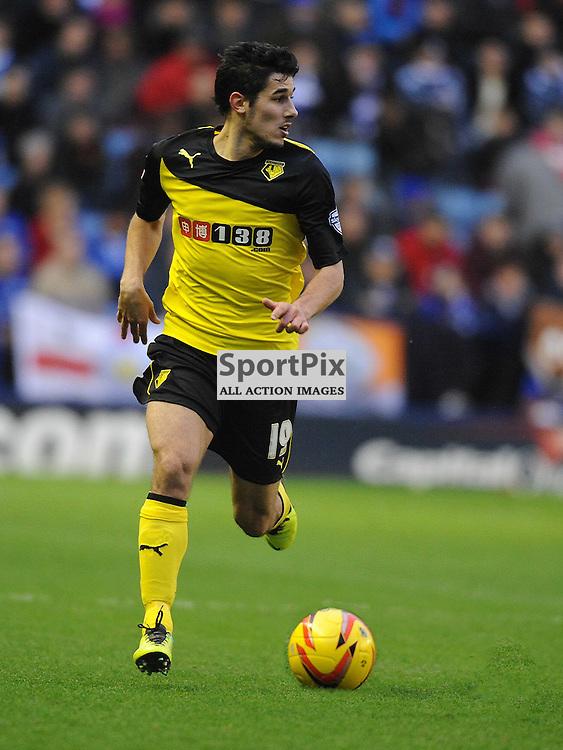 Marco Faraoni Watford, Leicester City v Watford, Sky Bet Championship, Saturday 8th Febuary 2014
