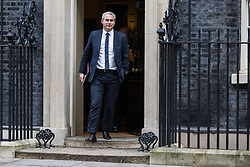 London, UK. 7 January, 2020. Stephen Barclay, Secretary of State for Exiting the European Union, leaves 10 Downing Street following a Cabinet meeting.