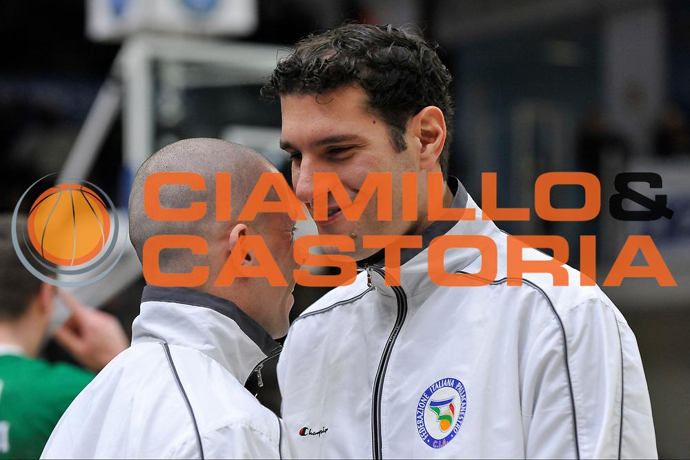 DESCRIZIONE : Beko Legabasket Serie A 2015- 2016 Dinamo Banco di Sardegna Sassari - Sidigas Scandone Avellino <br /> GIOCATORE : Denis Quarta<br /> CATEGORIA : Arbitro Referee Before Pregame<br /> SQUADRA : AIAP<br /> EVENTO : Beko Legabasket Serie A 2015-2016 <br /> GARA : Dinamo Banco di Sardegna Sassari - Sidigas Scandone Avellino <br /> DATA : 28/02/2016 <br /> SPORT : Pallacanestro <br /> AUTORE : Agenzia Ciamillo-Castoria/C.Atzori